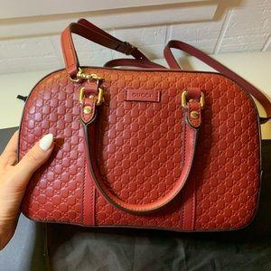❤️NWT Gucci 510286 Micro GG Red Satchel Purse Bag